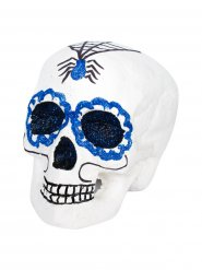 Teschio bianco  per festa Dia de los muertos Halloween