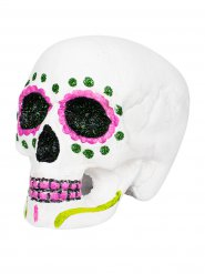 Teschio rosa per festa Dia de los muertos Halloween