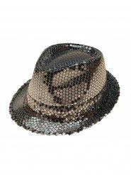 Cappello borsalino a paillettes argentate