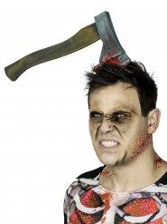 Cerchietto ascia conficcata in testa per Halloween
