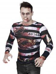 T-shirt da zombie prigioniero Halloween