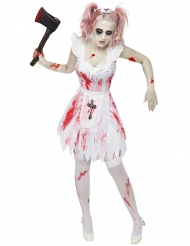 Costume damigella d'onore zombie per donna halloween