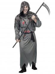 Costume da morte in grigio per uomo halloween