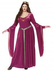 Costume principessa viola medievale taglia grande per donna
