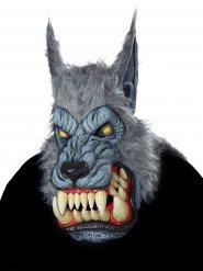 Maschera lupo mannaro grigio adulto