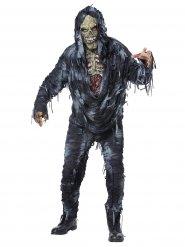 Costume zombie slavato grigio uomo
