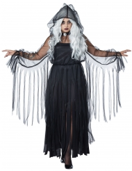 Vestito fantasma Halloween donna per grandi taglie