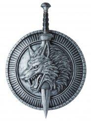 Pugnale e gladio da guerriero con lupo