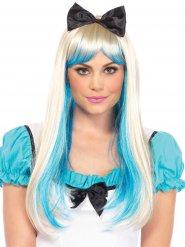 Parrucca bionda lusso da principessa con fiocco