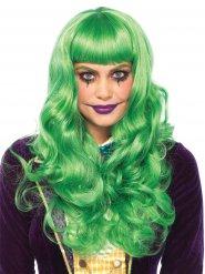 Parruca lunga verde per donna