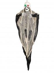 Decorazione scheletro fantasma per Halloween occhi luminosi