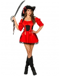 Costume rosso da pirata sexy per donna