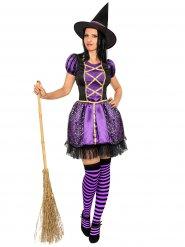 Vestito viola  strega per donna Halloween
