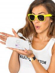 Pochette bianca con indicatore UV