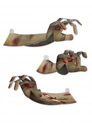 Decorazioni mani da zombie in 3D halloween
