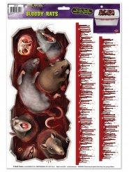 Adesivi topi mostruosi e sangue 3 pezzi