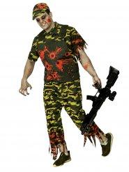 Costume soldato zombie mimetico per uomo halloween