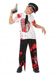 Costume da poliziotto zombie per bambino - Halloween
