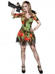 Costume militare zombie per donna halloween