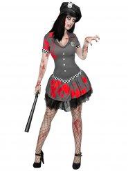 Costume agente di polizia zombie per donna halloween
