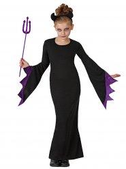 Costume strega diabolica per bambina halloween