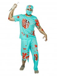 Costume dottore zombie per uomo Halloween