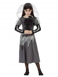 Costume sposa fantasma bambina halloween