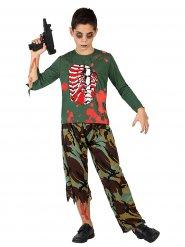 Costume soldato zombie per bambino Halloween