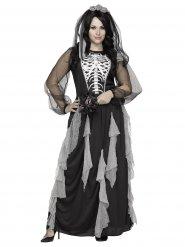 Costume da sposa scheletro per donna Halloween