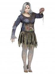Costume da zombie per donna taglia grande halloween