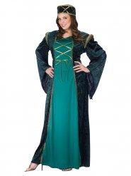 Costume dama medievale per donna verde