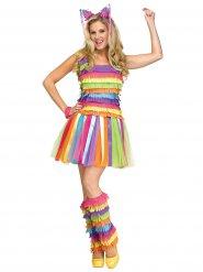 Costume da pignatta multicolore