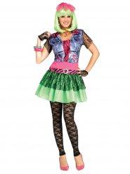 Costume rock anni 80 multicolore donna
