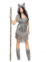 Costume indiana grigia per donna