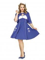 Costume da marinaio anni 50 per donna Taglia grande