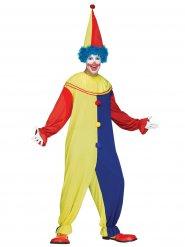 Costume da clown per uomo giallo e blu