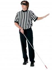 Costume arbitro non vedente bianco e nero