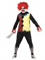 Costume da clown terrificante per uomo halloween
