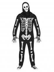Costume da scheletro pixelato halloween per adulto