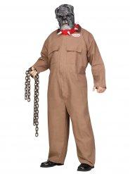 Costume da prigioniero bulldog per uomo taglia grande