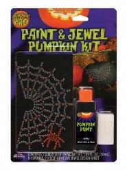 Strass adesivi per zucca di halloween ragnatela con ragno