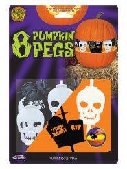 8 decorazioni per zucca di halloween