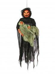 Decorazione da appendere mostro zucca di halloween