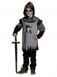 Costume da cavaliere gotico nero e grigio per bambino