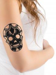 Tatuaggio temporaneo teschio in pizzo halloween