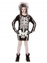 Costume da scheletro per bambina Halloween