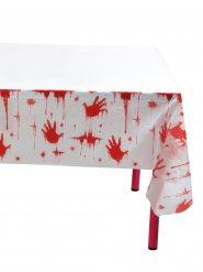 Tovaglia con impronte di sangue Halloween