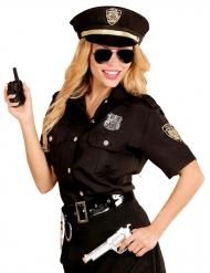Costume poliziotta nero per donna