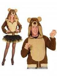 Costume felpa da orso per adulto