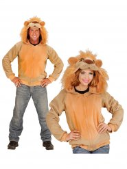 Maglia con cappuccio da leone per adulto